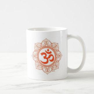 om shanti coffee mug