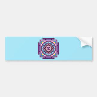 Om Shanti Om Mandala Bumper Sticker