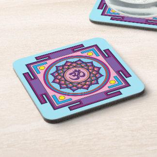 Om Shanti Om Mandala Coaster