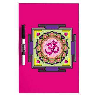 Om Shanti Om Mandala Dry Erase Board