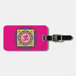 Om Shanti Om Mandala Luggage Tag