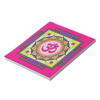 Om Shanti Om Mandala Notepad