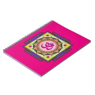 Om Shanti Om Mandala Spiral Notebook
