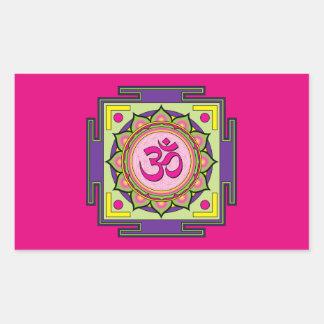Om Shanti Om Mandala Sticker