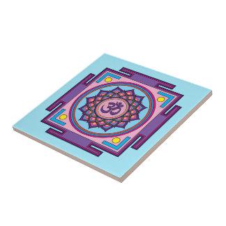 Om Shanti Om Mandala Tile