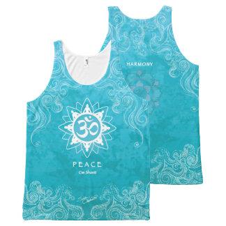 Om Shanti - Peace (M) All-Over-Print Tank Top