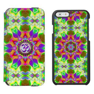 Om Shanti Purple Green Geometric Mandala iPhone Incipio Watson™ iPhone 6 Wallet Case