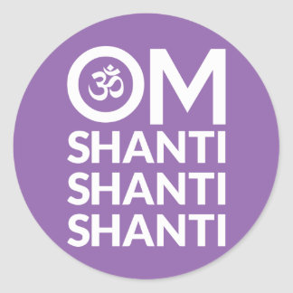 Om Shanti Round Sticker