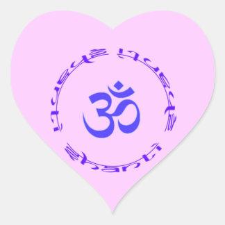 Om Shanti Shanti Shanti heart sticker