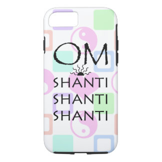 OM-Shanti/Yoga/Yin-Yang+Hearts Pattern iPhone 7 Case