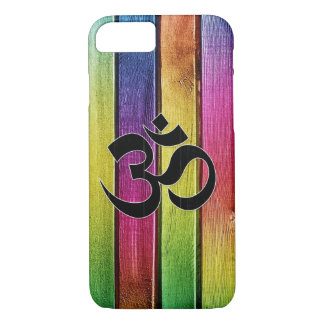 Om sign on multicolor wood iPhone 8/7 case