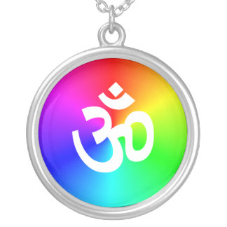 Om Silver Plated Necklace