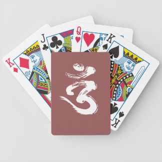 OM Spiritual Symbol - Yoga Products Bicycle Playing Cards