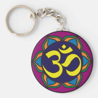 Om Stained Glass Keychain