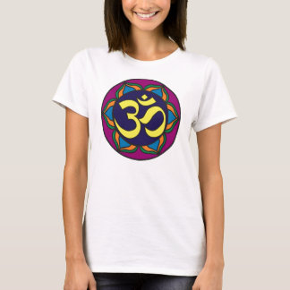Om Stained Glass Ladies Baby Doll Tee