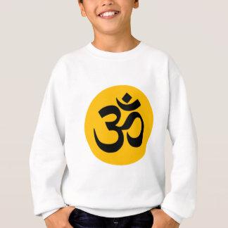 Om Symbol, black circle with gold Sweatshirt