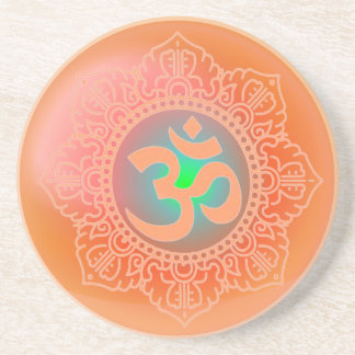 OM symbol coaster