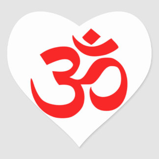 Om SYmbol Heart Sticker