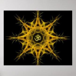 Om Symbol in Sacred Geometry - Aum Poster