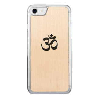 Om Symbol iPhone 7 Wood Phone Case