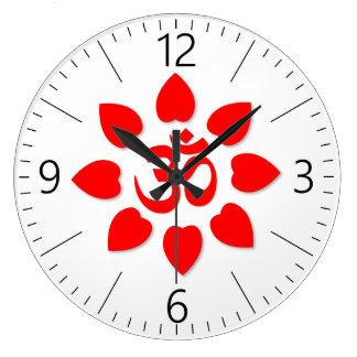 Om symbol large clock