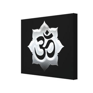 OM Symbol Lotus Spirituality Yoga Stretched Canvas Prints