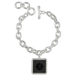OM Symbol Lotus Spirituality Yoga Carbon Style Charm Bracelet