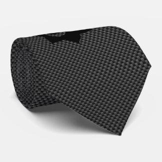 OM Symbol Lotus Spirituality Yoga in Carbon Fiber Tie