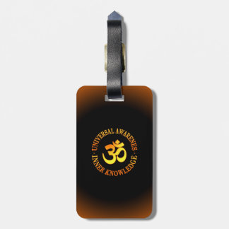 Om symbol luggage tag