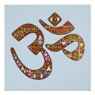 Om Symbol Meditation Yoga Poster
