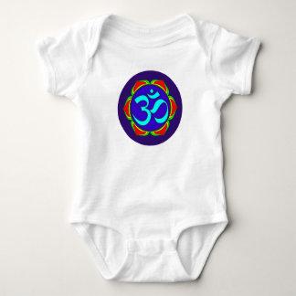 om symbol sacred Buddhism religion zen yoga flower Baby Bodysuit