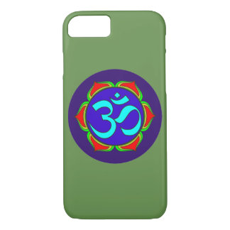 om symbol sacred Buddhism religion zen yoga flower Case-Mate iPhone Case