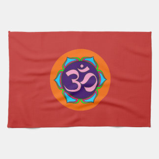 om symbol sacred Buddhism religion zen yoga flower Kitchen Towel