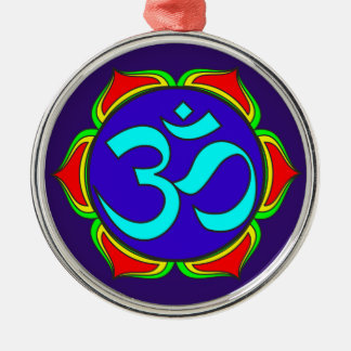 om symbol sacred Buddhism religion zen yoga flower Metal Ornament