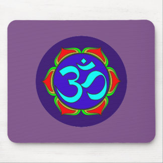 om symbol sacred Buddhism religion zen yoga flower Mouse Pad
