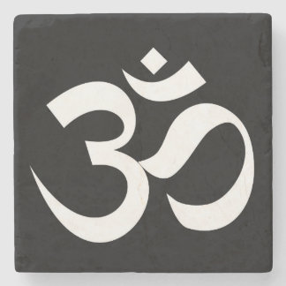 om symbol sacred Buddhism religion zen yoga Stone Coaster