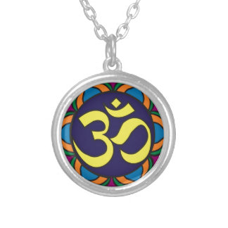 Om Symbol Silver Plated Necklace