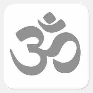 Om Symbol. Square Sticker