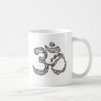 OM symbol with a hamsa Coffee Mug