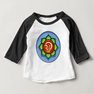 Om (Tamil) Red, Green, Blue Baby T-Shirt
