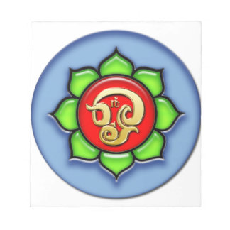 Om (Tamil) Red, Green, Blue Notepad