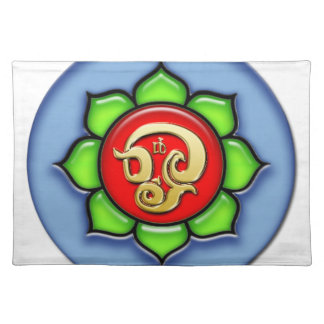 Om (Tamil) Red, Green, Blue Placemat