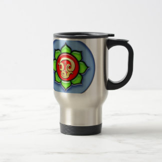 Om (Tamil) Red, Green, Blue Travel Mug