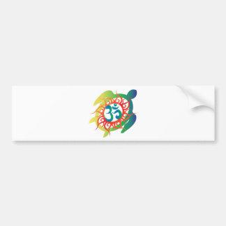 Om-Tatto-Vibrant-Turtle Bumper Sticker
