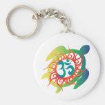Om-Tatto-Vibrant-Turtle Keychain