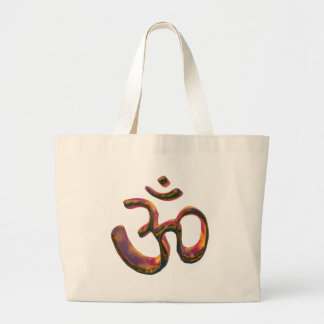 Om - the sacred syllable large tote bag
