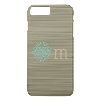 Om turquoise olive green zen stripes iPhone 8 plus/7 plus case