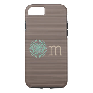 Om turquoise wood grain brown stripes Case-Mate iPhone case