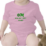 Om Was My First Word - Baby Yoga Clothes Creeper