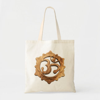 OM with in a 12 Petal Lotus Flower Tote Bag